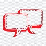 讲话泡影手拉的例证标志设计 免版税图库摄影