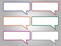 讲话泡影,讲话,对话,五颜六色的讲话泡影 库存例证