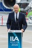 讲话Dietmar Woidke,勃兰登堡的大臣总统 免版税图库摄影