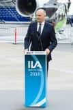 讲话Dietmar Woidke,勃兰登堡的大臣总统 免版税库存图片