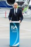 讲话Dietmar Woidke,勃兰登堡的大臣总统 库存照片