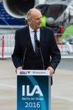 讲话Dietmar Woidke,勃兰登堡的大臣总统 库存图片