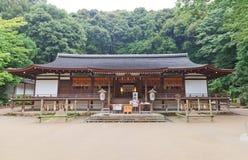 讲说术Haiden & x28; 1215& x29;Ujigami神道圣地在Uji,日本 Na 图库摄影