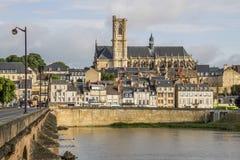 讷韦尔,布戈尼,法国 免版税图库摄影