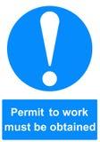 许可证工作标志 免版税库存图片