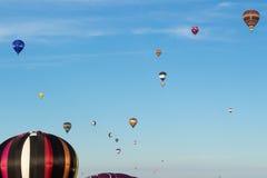许多上升布里斯托尔国际气球节日 库存照片