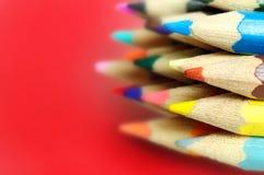 许多上色了铅笔 免版税库存照片