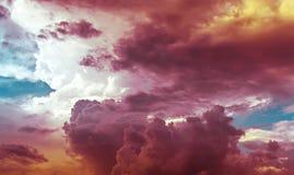 许多上色天空 免版税库存照片