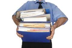许多不同的文件夹 免版税库存图片
