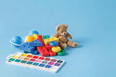 许多个孩子玩具 库存图片