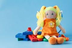 许多个孩子玩具 免版税库存照片