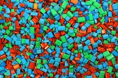 许多五颜六色的电容器当电子背景 库存图片