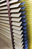 许多五颜六色的软百叶帘细节  免版税图库摄影