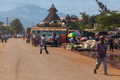 许多人民外面,人们在肯尼亚 免版税库存照片