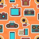 许多作用运载一个现代手机 无缝 库存图片