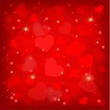 许多俏丽的华伦泰的心脏 图库摄影