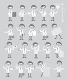 许多医生Concepts Vintage Graphic Set的 免版税库存图片