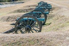 许多南北战争大炮 免版税库存图片
