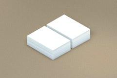 许多卡片堆对介绍的纸模板 库存图片