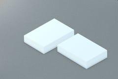 许多卡片堆对介绍的纸模板 免版税库存照片