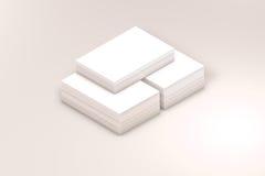 许多卡片堆对介绍的纸模板 库存照片