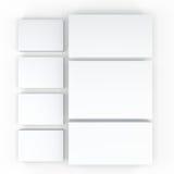 许多卡片 对介绍的模板 库存照片