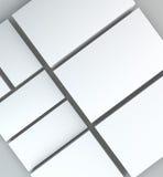 许多卡片 对介绍的模板 图库摄影