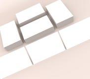 许多卡片 对介绍的模板 免版税库存图片