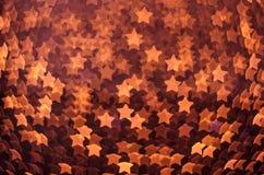 许多发光的红色星 库存图片