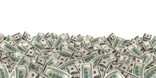 许多在白色背景的金钱 库存图片