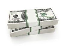 许多在白色背景的金钱 免版税图库摄影