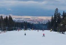 许多坡道滑雪 免版税库存图片
