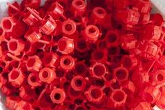 许多塑料关闭 免版税库存图片
