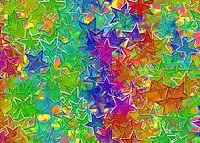 许多多彩多姿的星背景 向量例证