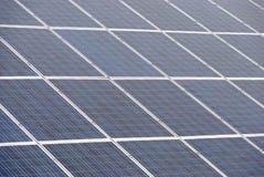 许多太阳电池板 库存图片