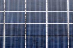 许多太阳电池板 免版税图库摄影
