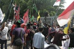许多学生抗议 免版税库存照片