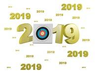 许多射箭目标2019设计 库存图片