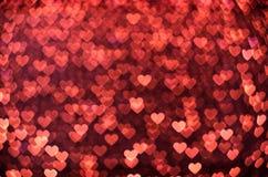 许多小发光的心脏 免版税库存照片