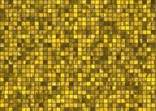 许多小金正方形瓦片马赛克 上色了不起的模式可重复的纹理 皇族释放例证
