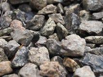许多岩石在地板放置 库存照片