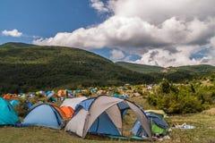 许多帐篷 免版税图库摄影
