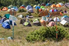 许多帐篷 免版税库存照片