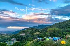 许多帐篷 库存图片