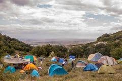 许多帐篷 免版税库存图片