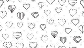许多心脏传染媒介无缝的样式 库存图片