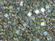 许多方形的LED光照片  库存图片