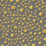 许多星无缝的样式 库存图片