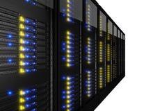 许多服务器机架行  免版税图库摄影