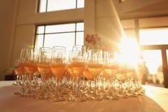许多杯香槟 库存图片